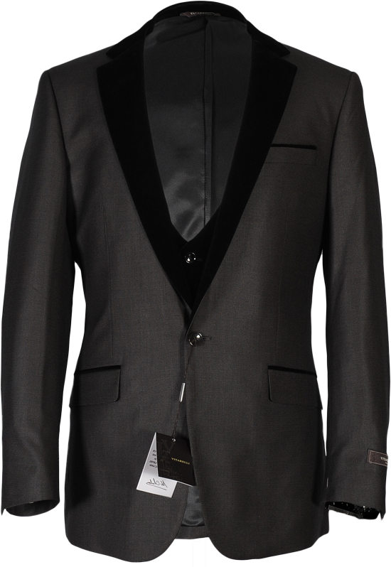 Men's Velvet Lapel Wedding Suit