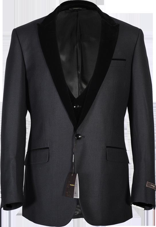 New line of velvet lapel and vest suits