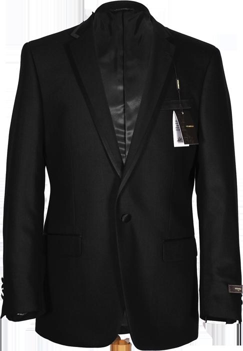 Vitarelli Black Tuxedo for men with satin trim and one button