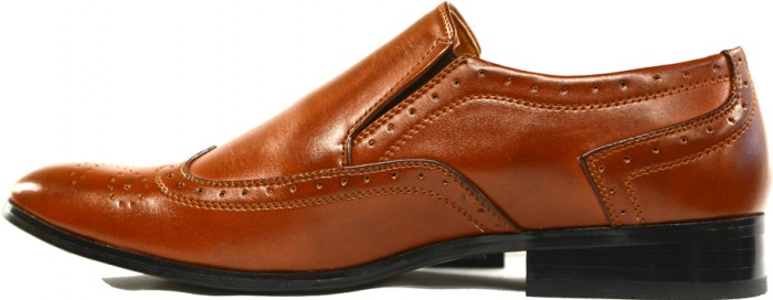 Men's Tan brown Dress Shoes - Enrico Brindisi Shoes