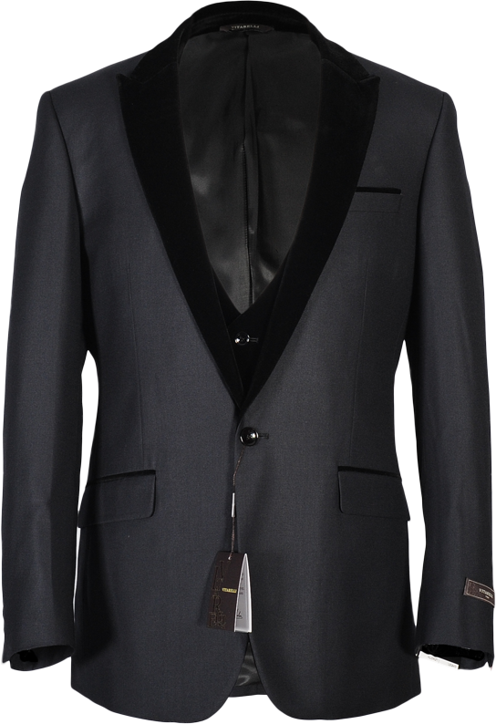 New line of velvet lapel and vest suits