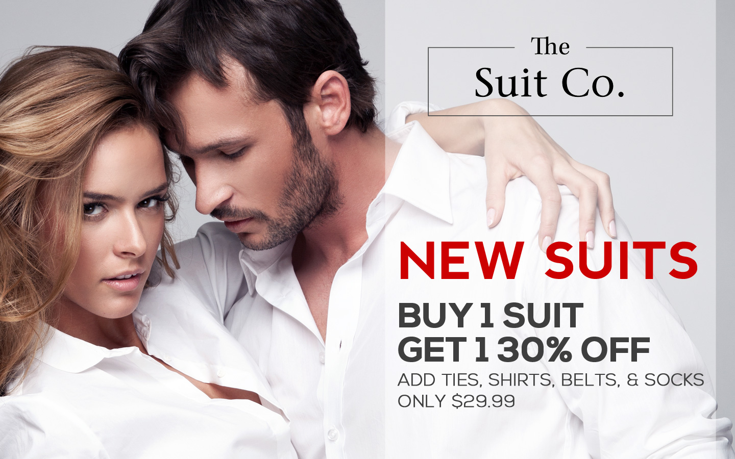 The Suit Co September Weekend Sale