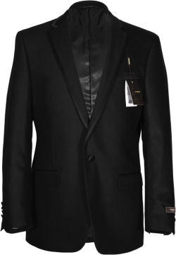 Vitarelli Black Tuxedo for men with satin trim and one button