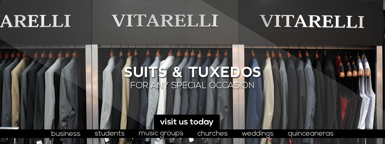 Buy suits and tuxedos for special occasions in orange county's The Suit Co store for men's formal wear and apparel